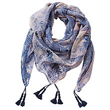 Buy Betty Barclay Printed Square Scarf, Blue Online at johnlewis.com