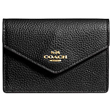 Buy Coach Envelope Leather Card Case, Black Online at johnlewis.com