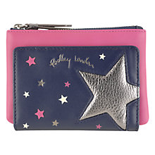 Buy Radley Night Shift Leather Medium Zip Around Purse, Navy Online at johnlewis.com