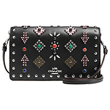 Buy Coach Western Rivets Leather Across Body Purse, Black Online at johnlewis.com