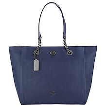 Buy Coach Turnlock Chain Crossgrain Leather Tote Bag Online at johnlewis.com