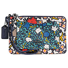 Buy Coach Yankee Floral Wristlet Purse, Chalk Online at johnlewis.com