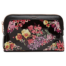 Buy Ted Baker	Dannika Lost Gardens Makeup Bag, Black Online at johnlewis.com