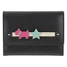 Buy Radley Charm Leather Medium Flapover Purse, Black Online at johnlewis.com