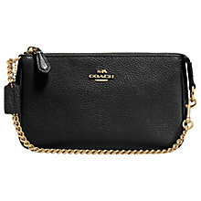 Buy Coach Nolita Pebbled Leather Wristlet Purse, Black Online at johnlewis.com