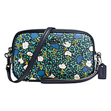 Buy Coach Yankee Floral Across Body Purse, Teal Online at johnlewis.com