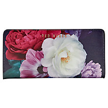 Buy Ted Baker Darenio Leather Blushing Bouquet Matinee Purse, Navy Online at johnlewis.com