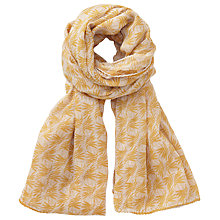 Buy Becksondergaard Vaise Floral Print Scarf, Yellow Online at johnlewis.com