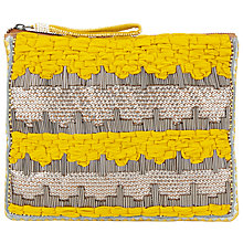 Buy Becksondergaard Liak Festive Clutch, Bright Yelow Online at johnlewis.com