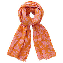 Buy Becksondergaard Jacobins Leaf Print Scarf, Flamingo Online at johnlewis.com