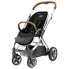 Buy BabyStyle Oyster 2 Mirror Pushchair Chassis and Seat, Black/Tan Online at johnlewis.com