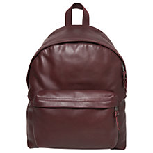Buy Eastpak Padded Pak'r Leather Backpack, Oxblood Online at johnlewis.com
