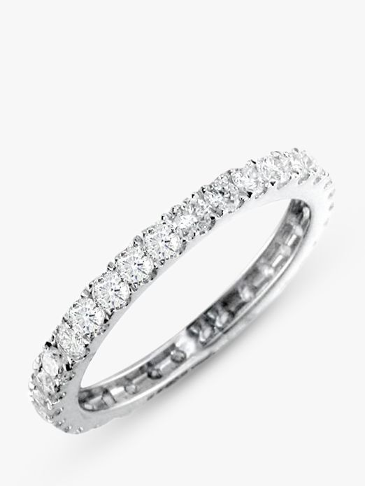 EWA EWA 18ct White Gold Brilliant Cut Diamond Full Eternity Ring, 0.85ct