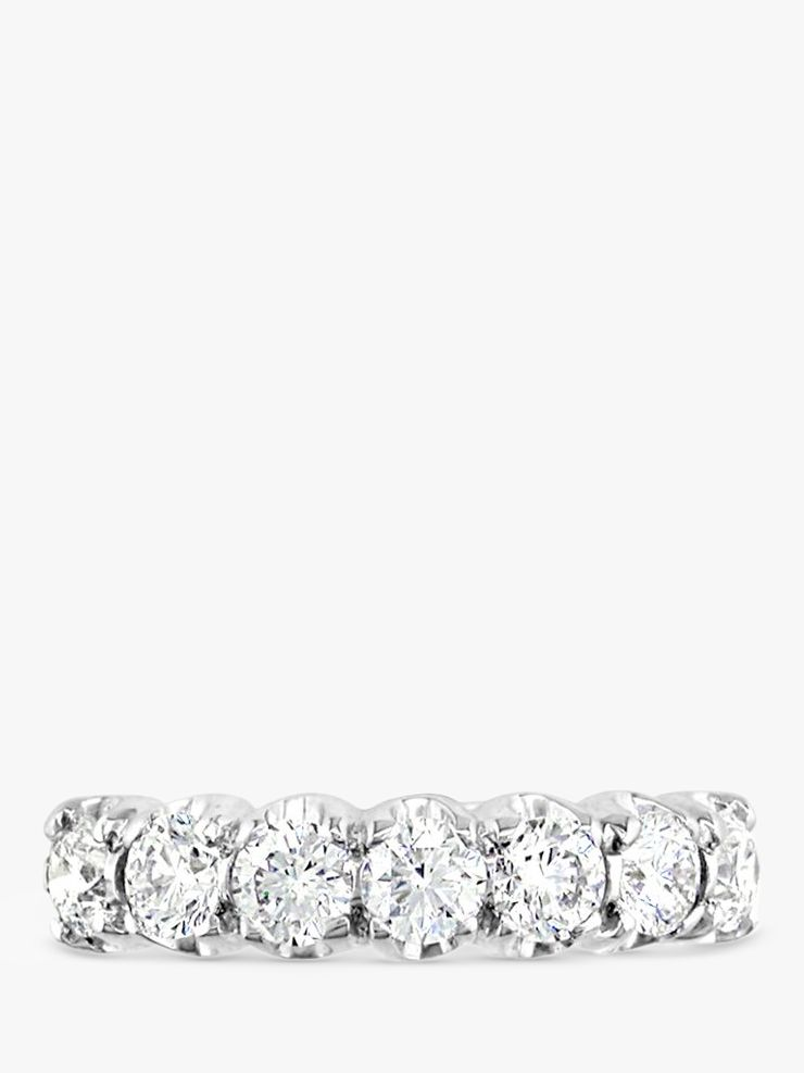 EWA EWA 18ct White Gold Diamond Half Eternity Ring, 1.06ct