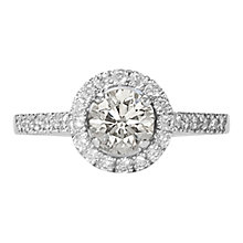 Buy EWA Platinum Diamond Cluster Engagement Ring, 0.46ct Online at johnlewis.com