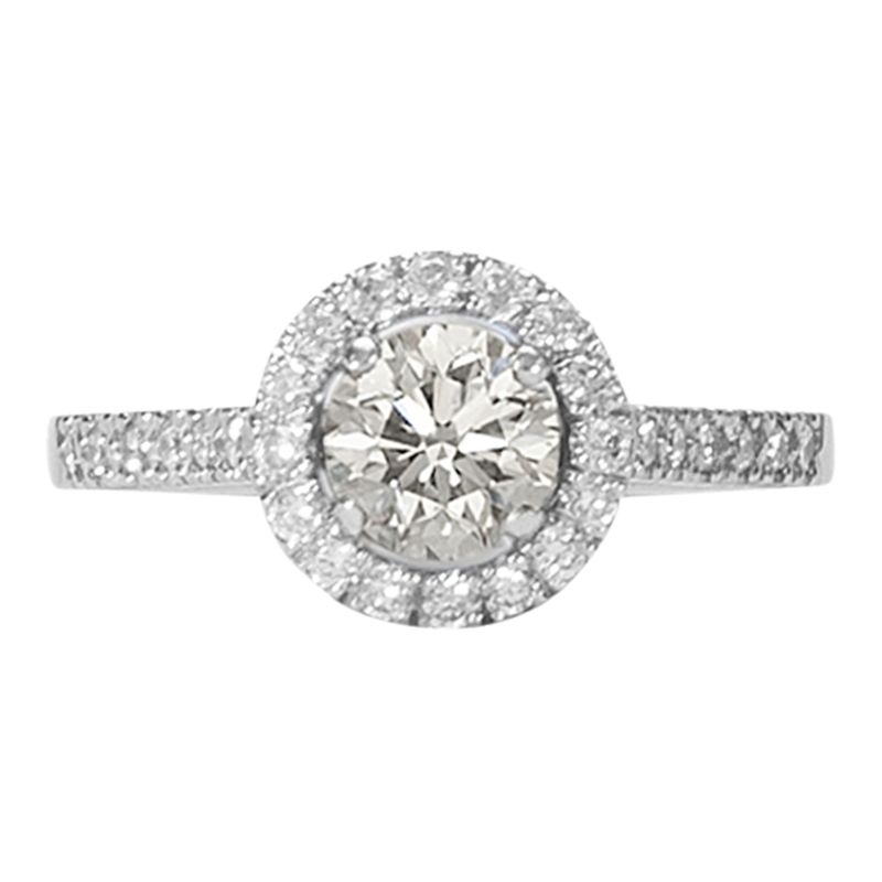 EWA EWA Platinum Diamond Cluster Engagement Ring, 0.46ct