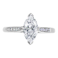 Buy EWA Platinum Marquise Cut Diamond Ring, 0.63ct Online at johnlewis.com