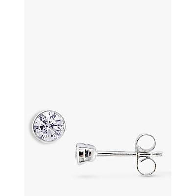 EWA 18ct White Gold Diamond Rub Over Stud Earrings, 0.60ct