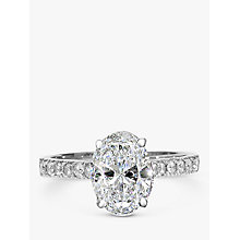 Buy EWA Platinum Oval Cut Diamond Engagement Ring. 0.50ct Online at johnlewis.com