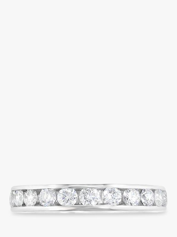 EWA EWA Platinum Channel Set Brilliant Cut Diamond Full Eternity Ring, 1.08ct