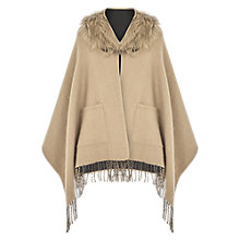 Buy Oasis Reversible Fringed Faux Fur Collar Wrap, Multi Online at johnlewis.com