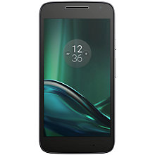 "Buy Vodafone Moto G4 Play Smartphone, Android, 5"", Pay As You Go (£10 Top Up Included), 16GB, Black Online at johnlewis.com"
