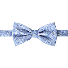 Buy John Lewis Slub Texture Bow Tie, Blue/White Online at johnlewis.com