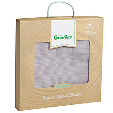 Buy The Little Green Sheep Wild Cotton Knitted Baby Blanket Online at johnlewis.com