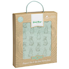 Buy The Little Green Sheep Wild Cotton Rabbit Cotbed Fitted Sheet, Mint Online at johnlewis.com