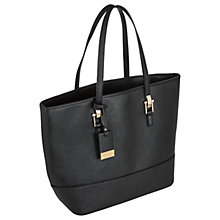 Buy Miss Selfridge Scratchy Tote Bag, Black Online at johnlewis.com