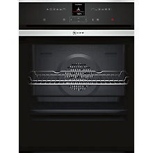 Buy Neff B57CR22N1B Pyrolytic Slide and Hide Single Electric Oven, Stainless Steel Online at johnlewis.com