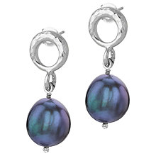 Buy Dower & Hall Open Circle Pearl Drop Earrings Online at johnlewis.com