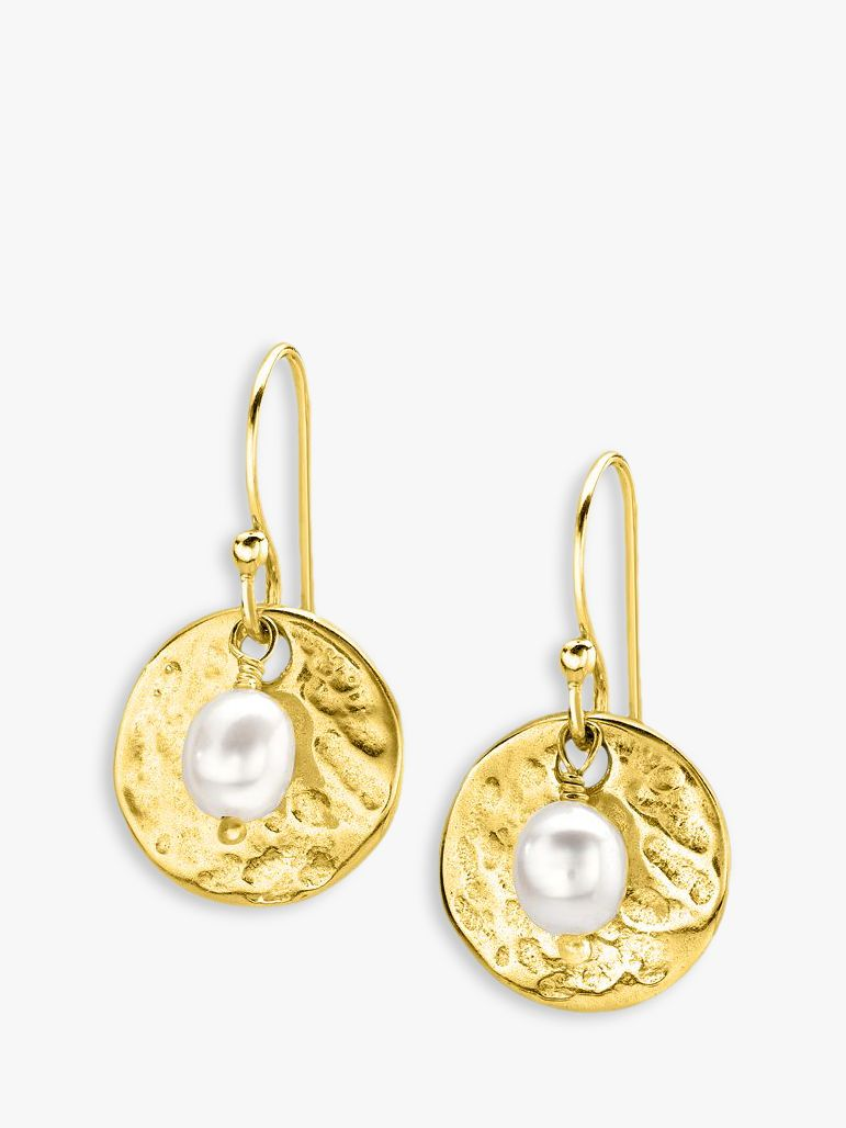 Dower & Hall Dower & Hall Sterling Silver Pearlicious Round Drop Earrings