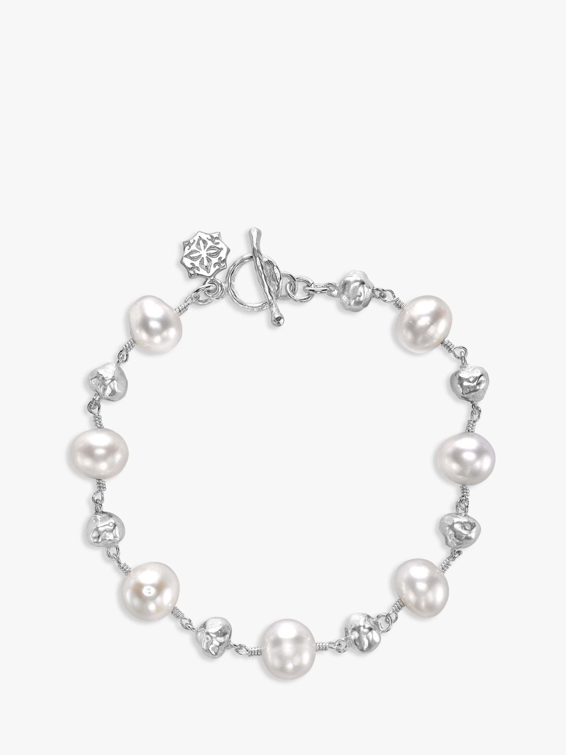 Dower & Hall Dower & Hall Sterling Silver Pearlicious Pearl Nugget Bracelet