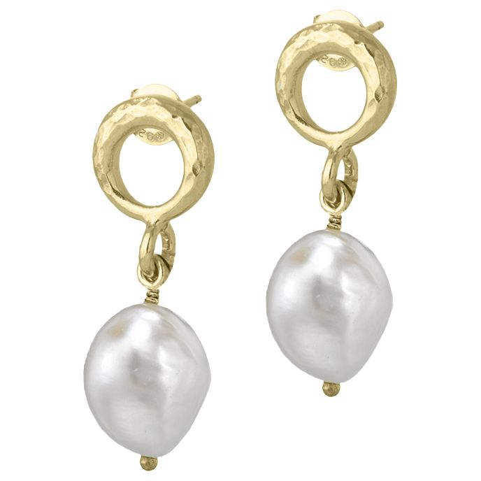Dower & Hall Dower & Hall Open Circle Pearl Drop Earrings