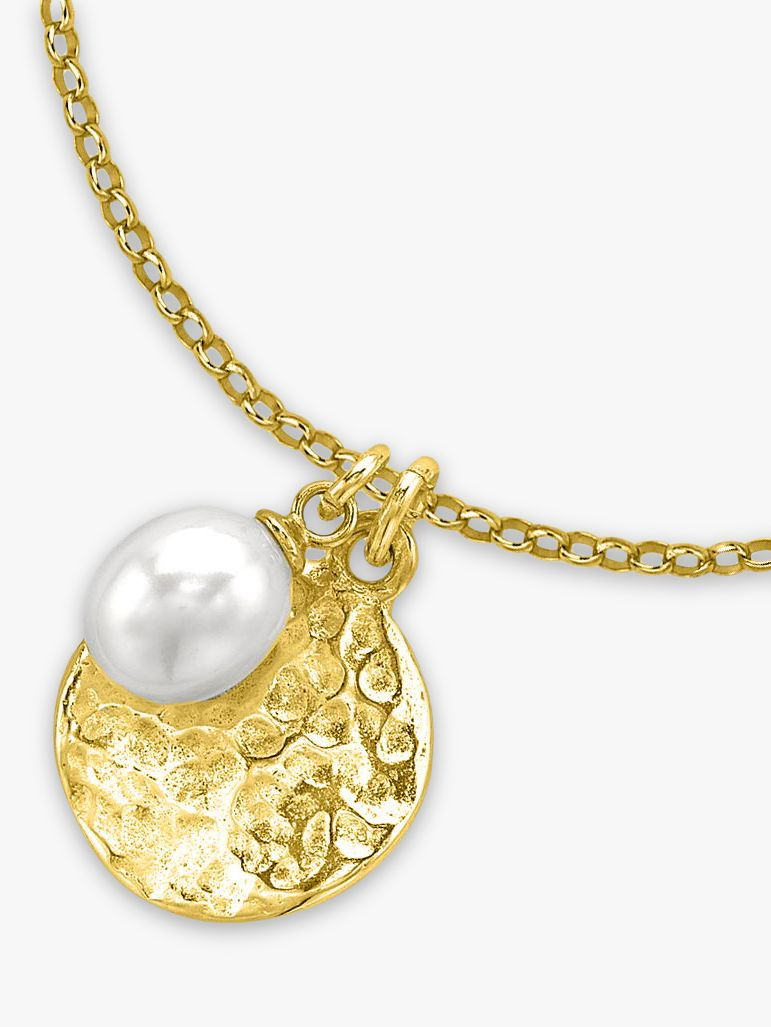 Dower & Hall Dower & Hall Pearlicious Disc and Pearl Pendant Necklace