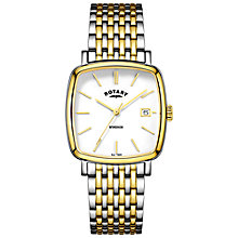 Buy Rotary GB05306/01 Men's Windsor Date Two Tone Bracelet Strap, Watch Online at johnlewis.com