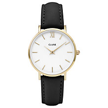 Buy CLUSE Women's Minuit Gold Leather Strap Watch Online at johnlewis.com