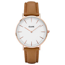 Buy CLUSE Women's La Boheme Rose Gold Leather Strap Watch Online at johnlewis.com