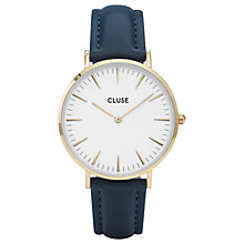 Buy CLUSE Women's La Boheme Gold Leather Strap Watch Online at johnlewis.com