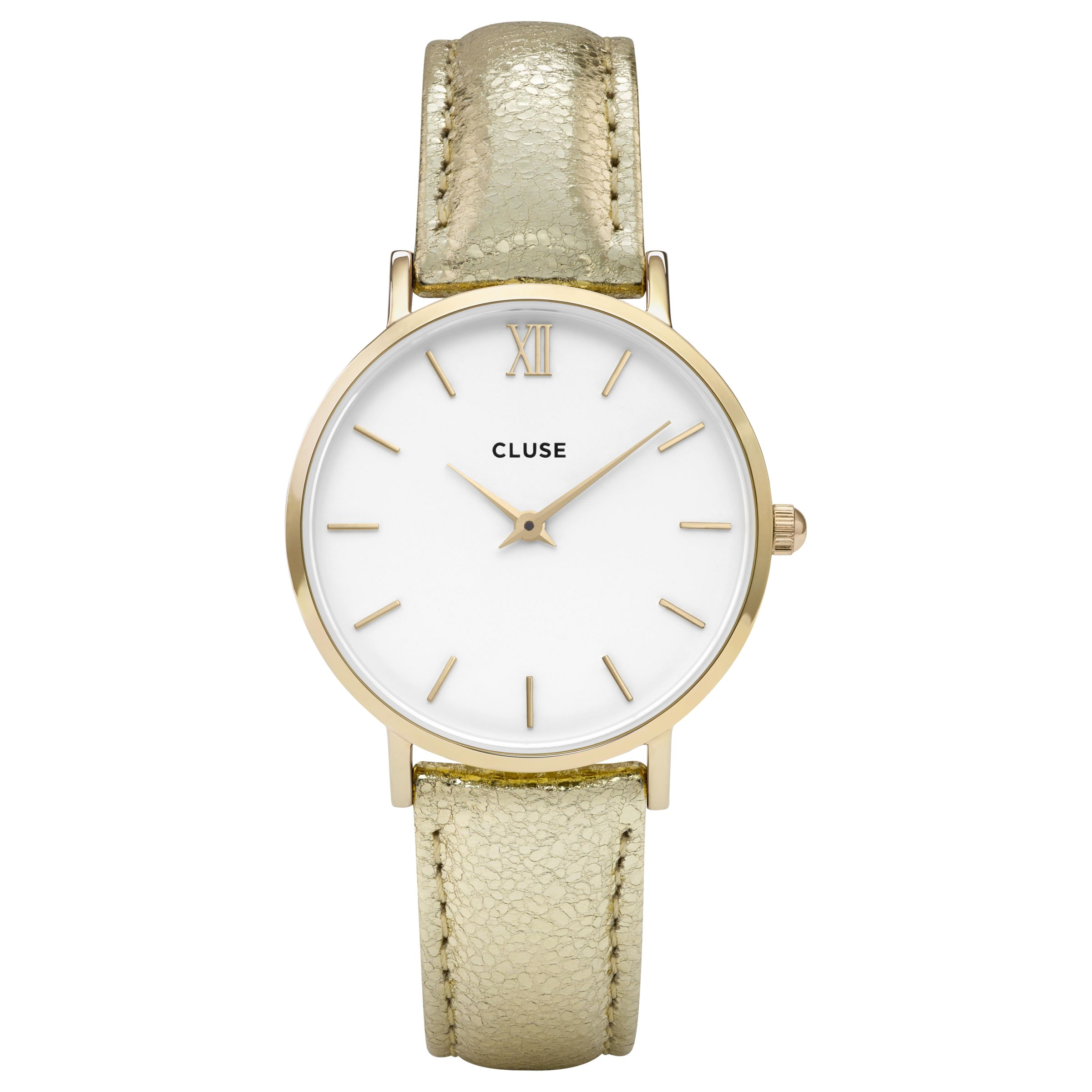 Cluse CLUSE Women's Minuit Gold Leather Strap Watch
