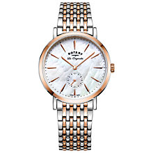 Buy Rotary LB90191/41 Women's Les Originales Bracelet Strap Watch, Silver/Rose Gold Online at johnlewis.com