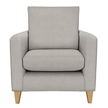 Buy John Lewis Bailey Loose Cover Armchair, Light Leg, Newlyn Charcoal Online at johnlewis.com
