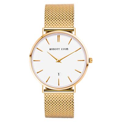 Abbott Lyon Women's Kensington Date Mesh Bracelet Strap Watch