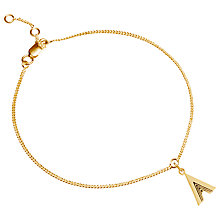 Buy Rachel Jackson London Gold Plated Initial Charm Bracelet Online at johnlewis.com