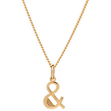 Buy Rachel Jackson London 22ct Gold Vermeil Initial Pendant Necklace Online at johnlewis.com