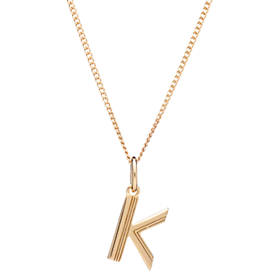 Rachel Jackson London 22ct Gold Vermeil Initial Pendant Necklace