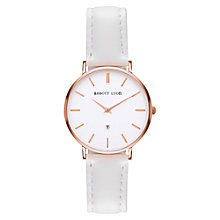 Buy Abbott Lyon Women's White Dove Kensington 34 Date Leather Strap Watch, White Online at johnlewis.com