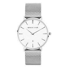 Buy Abbott Lyon Women's Kensington Date Mesh Bracelet Strap Watch Online at johnlewis.com