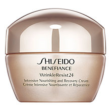 Buy Shiseido Benefiance WrinkleResist24 Intensive Nourishing & Recovery Cream, 50ml Online at johnlewis.com